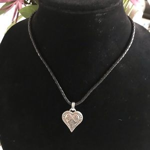 Brighton Leather & Heart Necklace